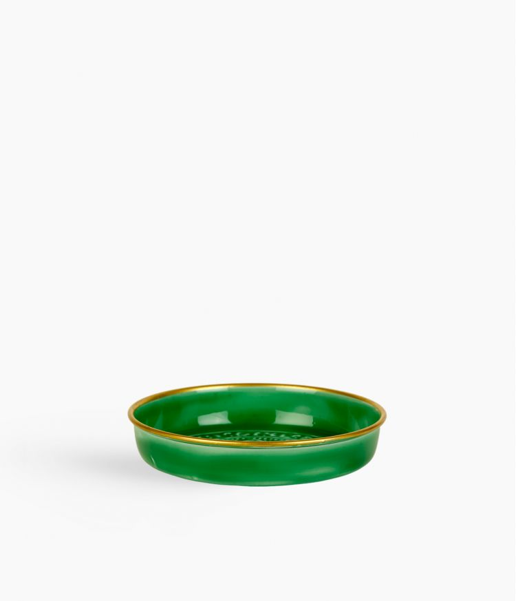 Mini plateau berbère en métal - Vert