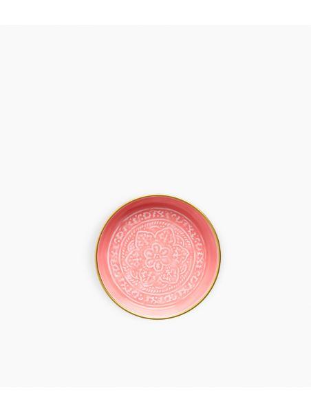 Mini plateau berbère en métal - Rose