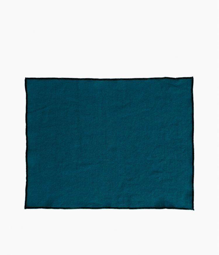 set de table 35*45 bleu de prusse