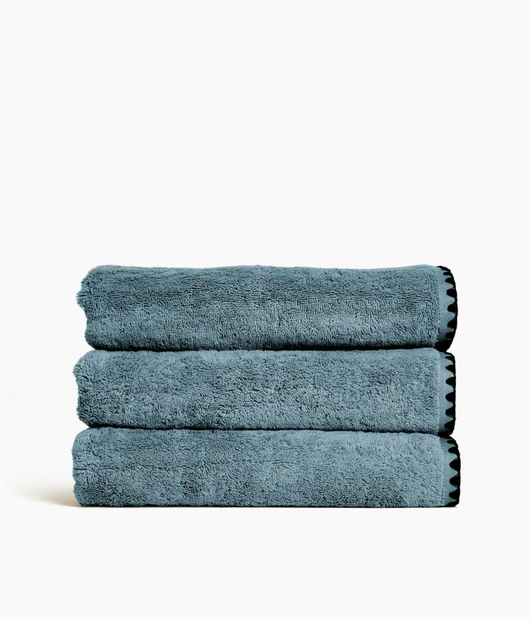 drap bain bleu stone 90*140