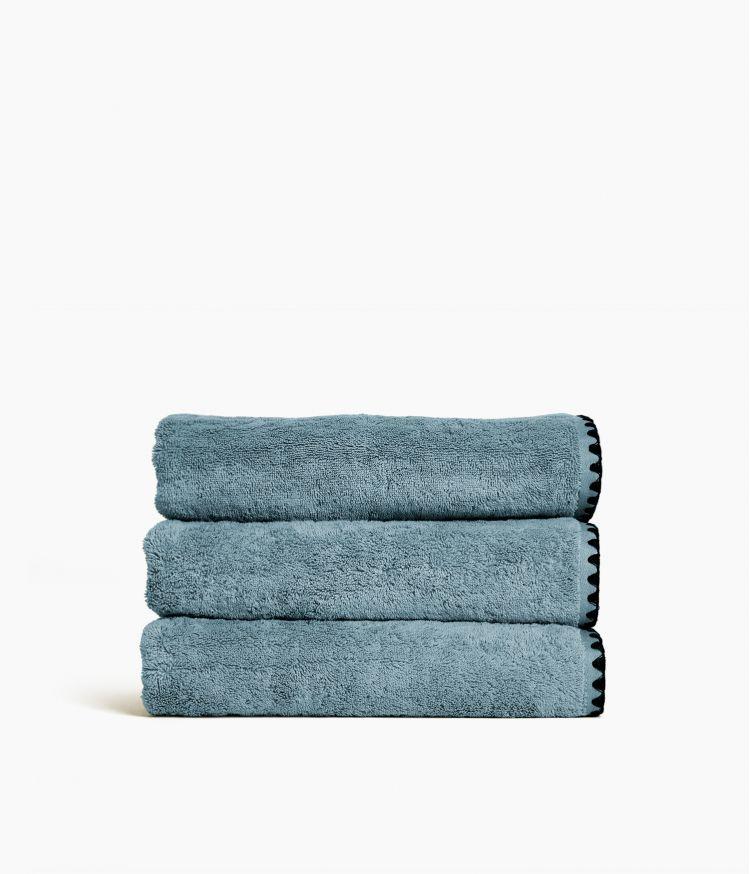 serviette bain 70*130 bleu stone