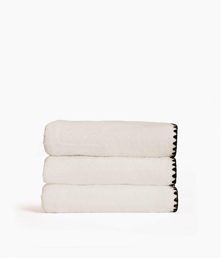 serviette bain 70*130 craie