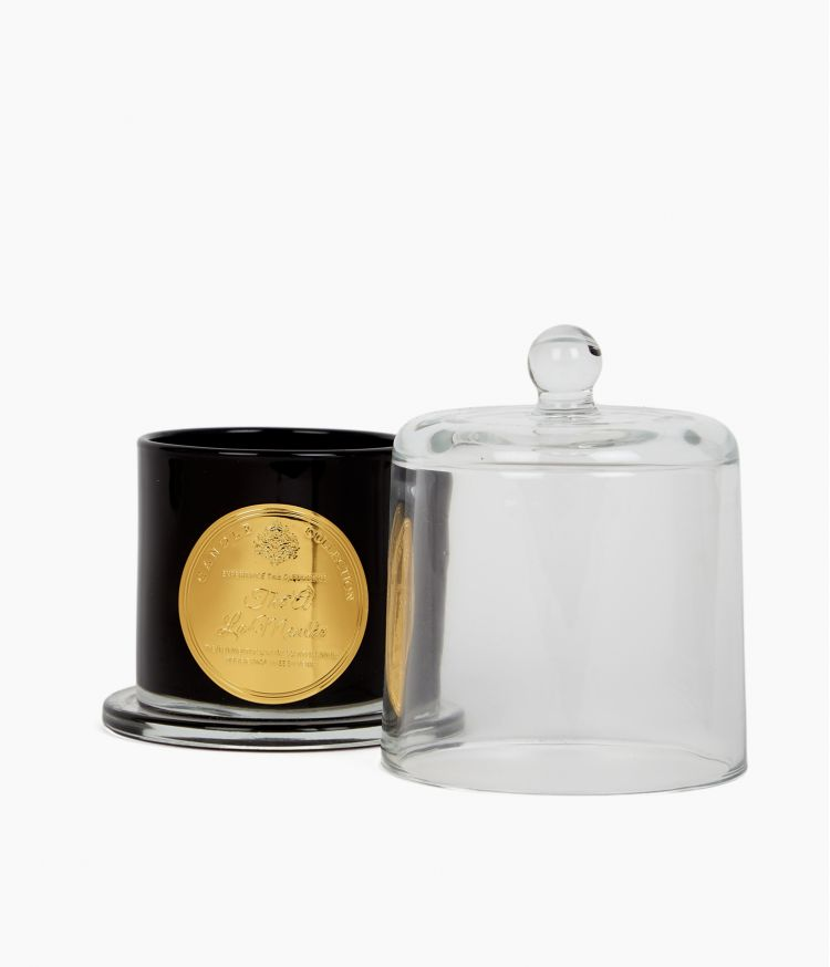 bougie cloche noire pm thé a la menthe noir