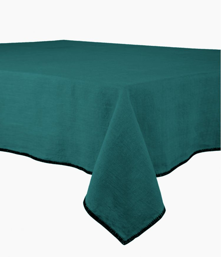 nappe carre 170*170 paon