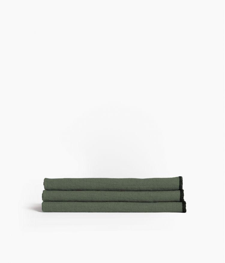 serviette de table 41*41 kaki