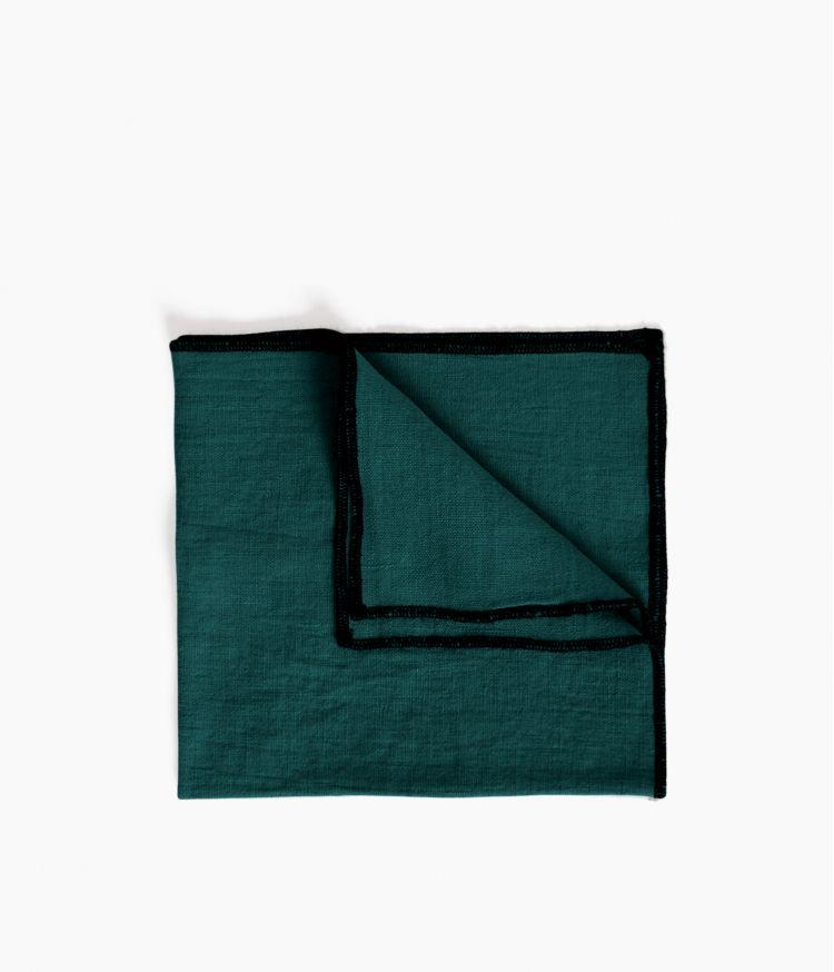 serviette de table 41*41 paon