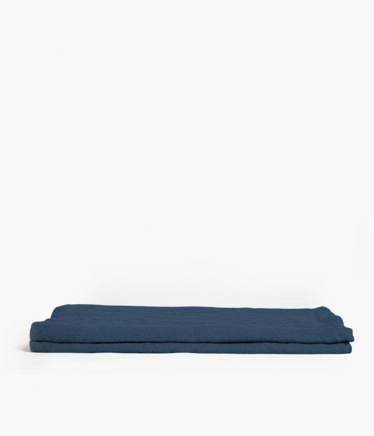 nappe carre 170*170  bleu de prusse