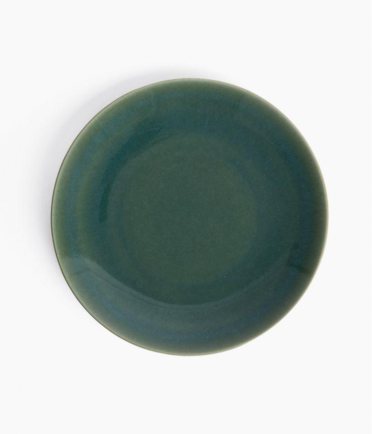 assiette plate 27cm lagon