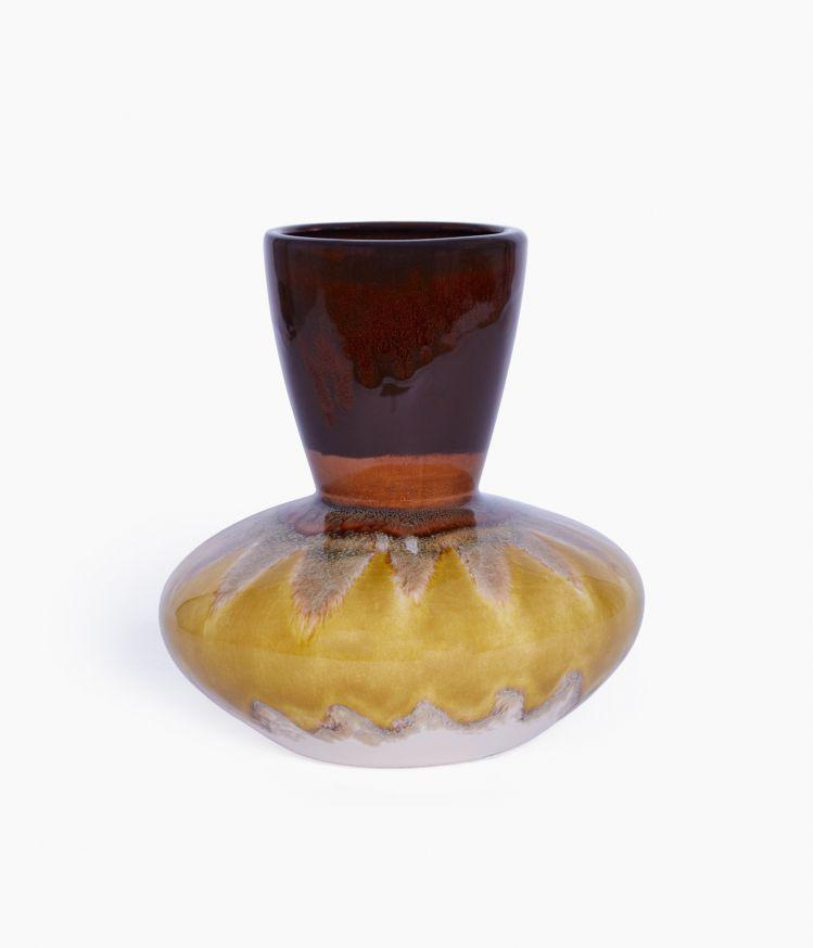 vase 22*22*h23cm moutarde