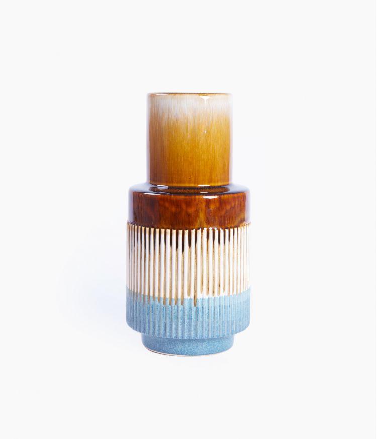 vase 14.8*14.8*h30.5cm bleu