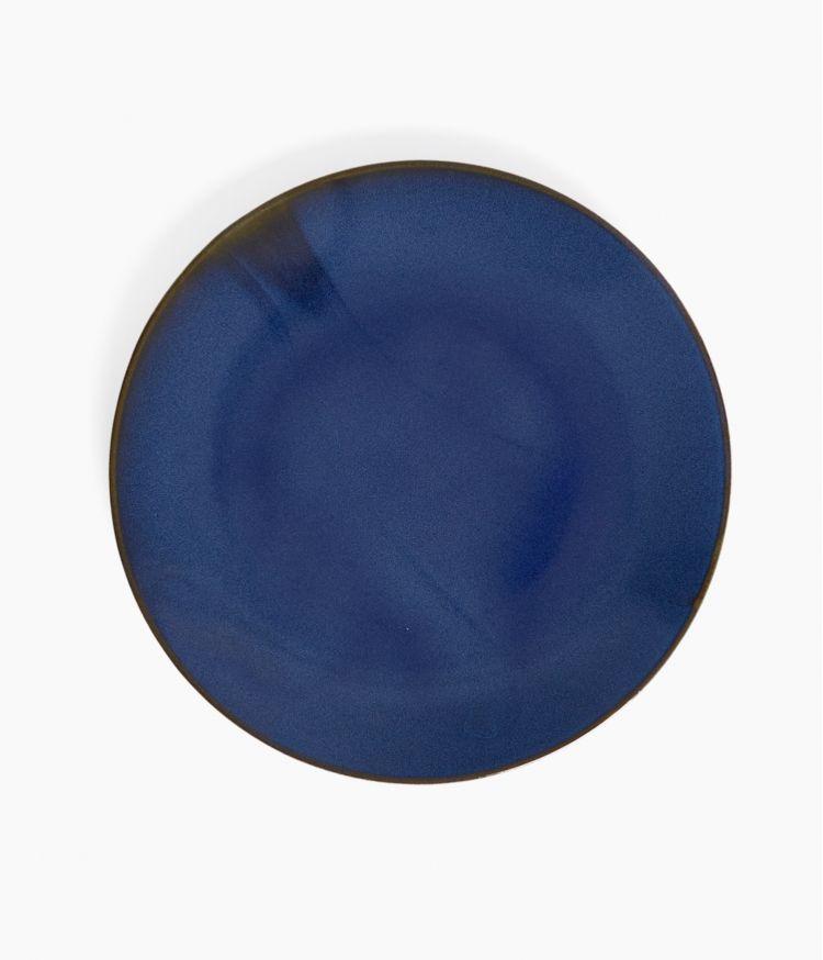 assiete plate 27cm bleu