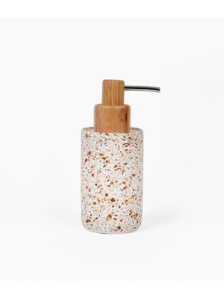 distributeur savon ciment mosaique