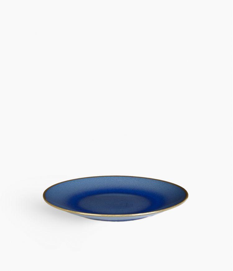 assiete dessert 21cm bleu