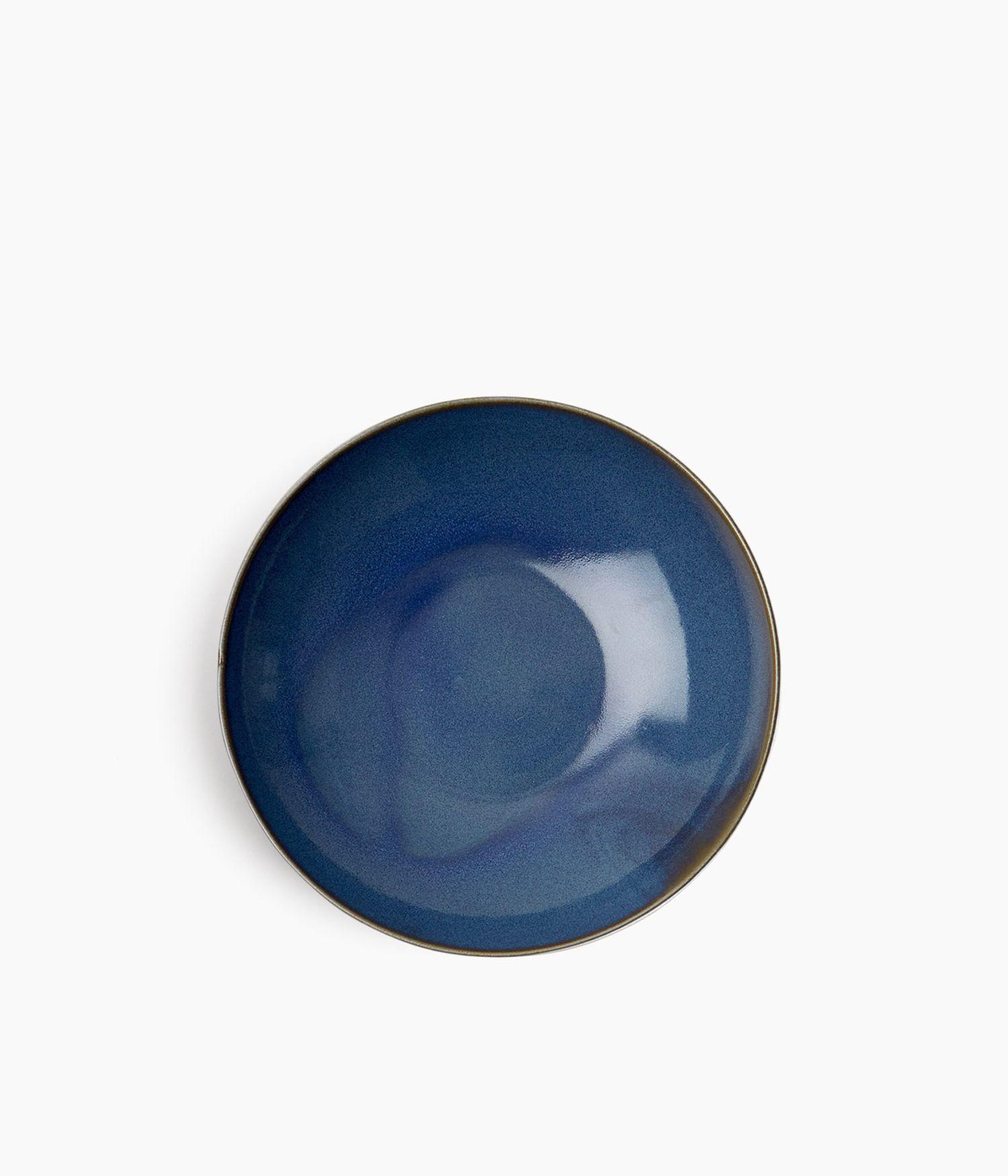 assiette calotte 22cm bleu