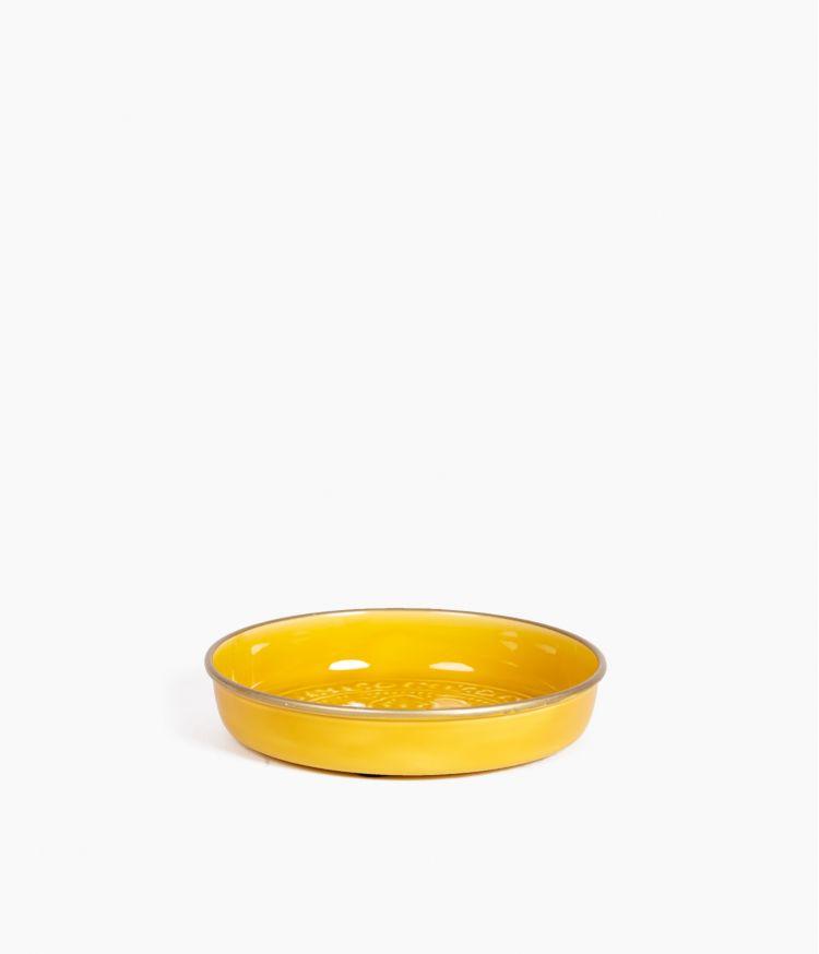 Mini plateau berbère en métal - Moutarde