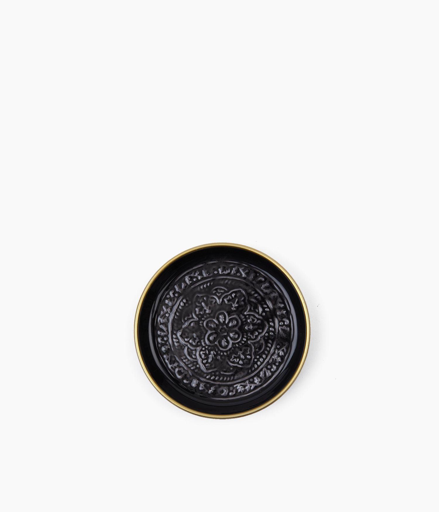 Mini plateau berbère en métal - Noir