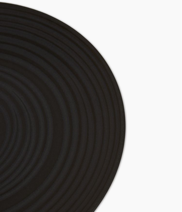 assiette plate 27cm moon noir