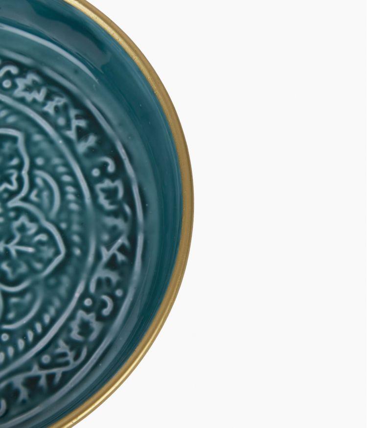 Mini plateau berbère en métal - Kaki
