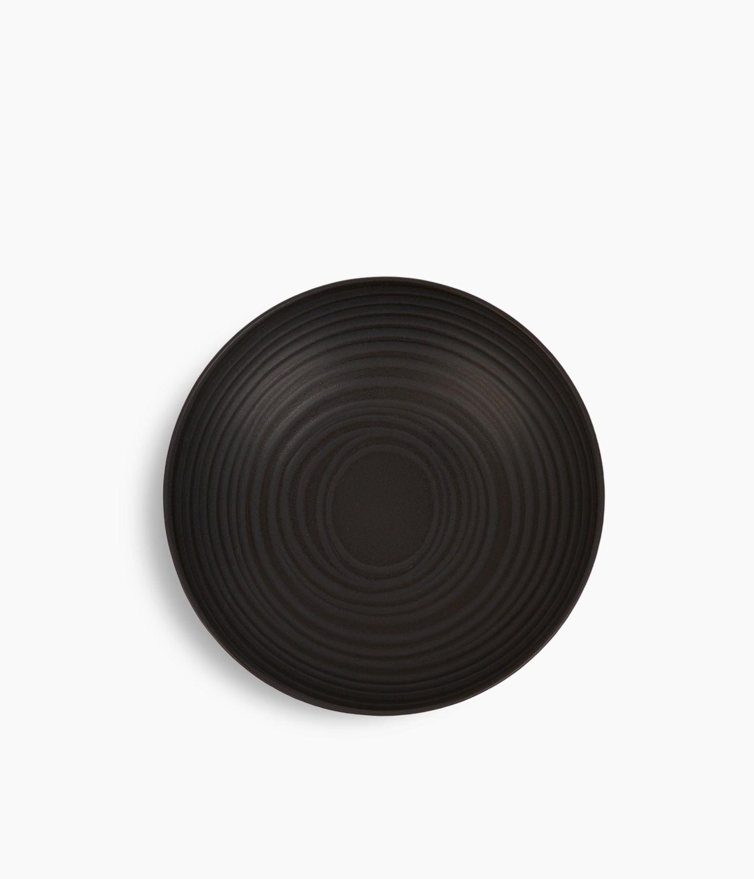 assiette calotte 22cm moon noir