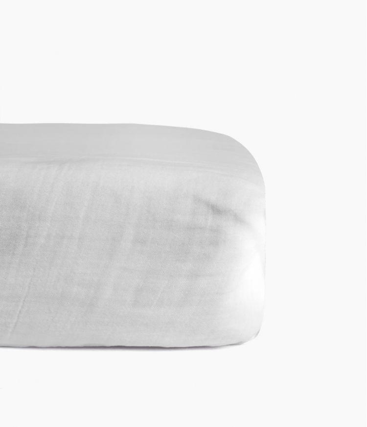 drap housse 160*200 blanc