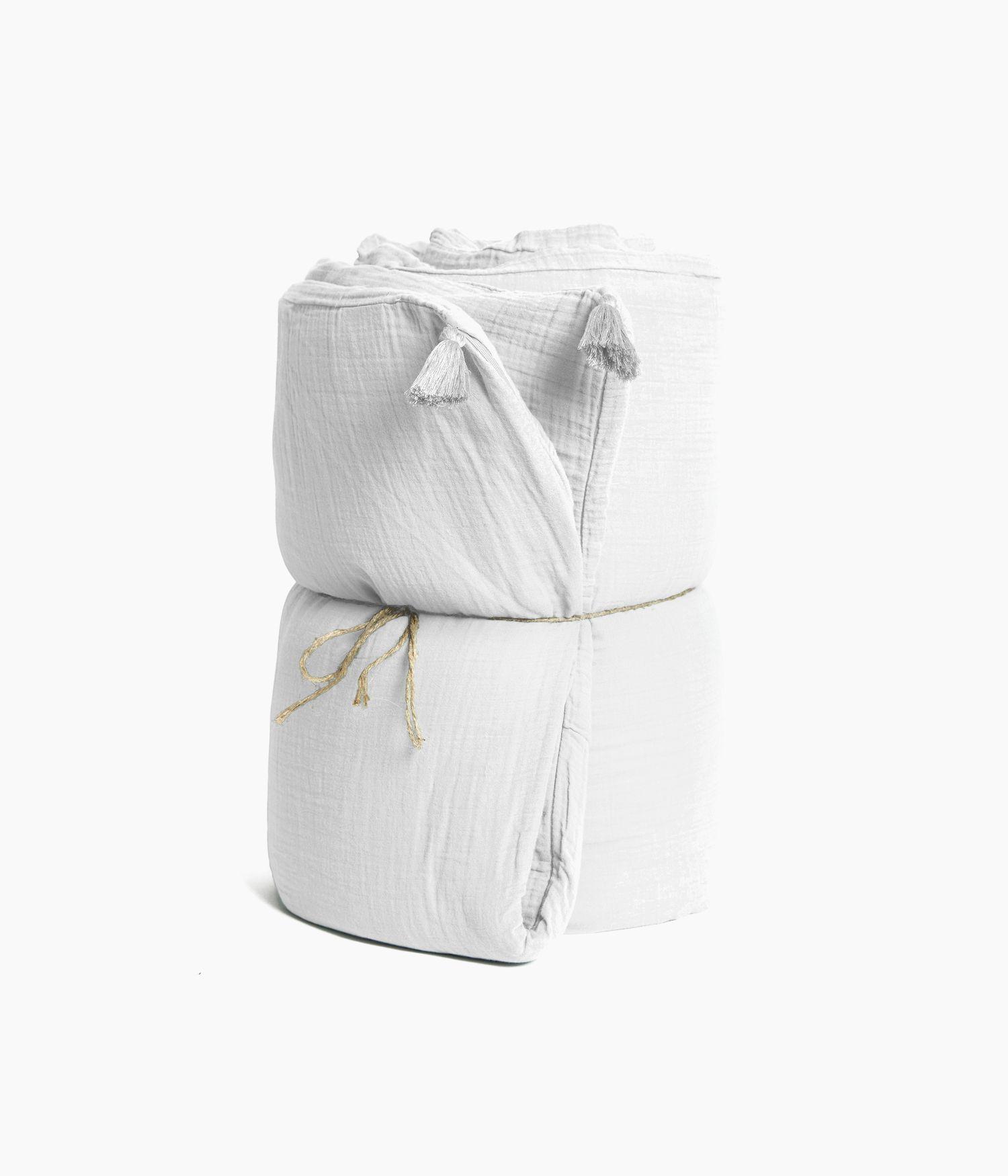 housse edredon 85*200 blanc