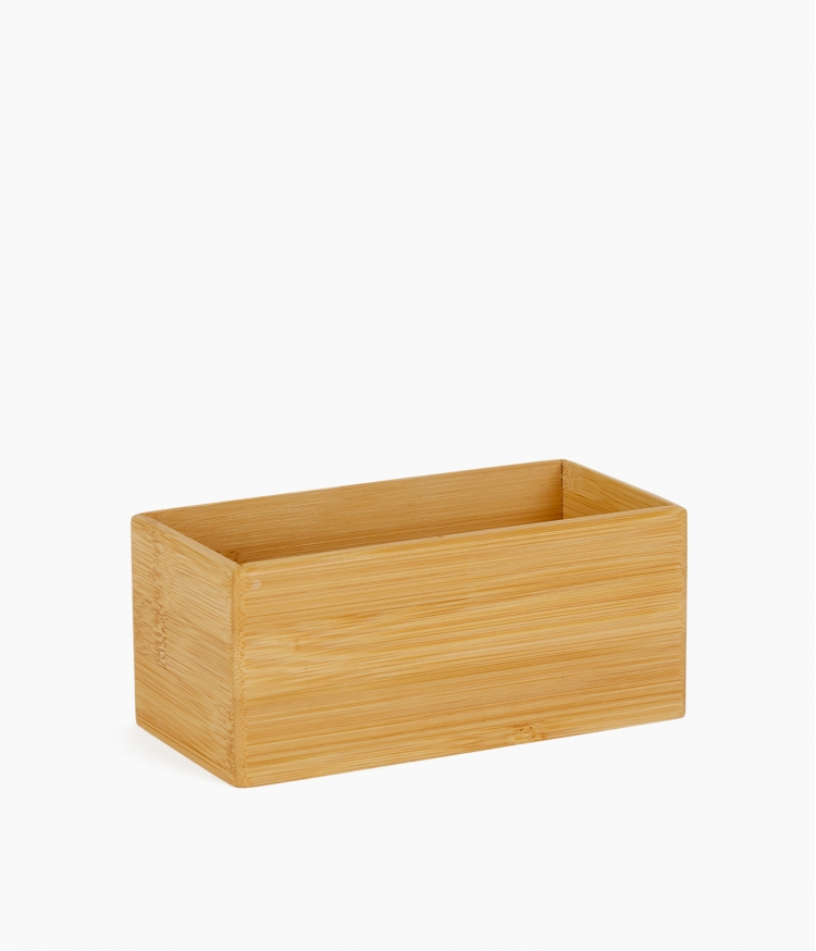organizer rectangulaire bambou