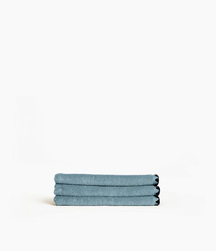 serviette invité 30*50 bleu stone