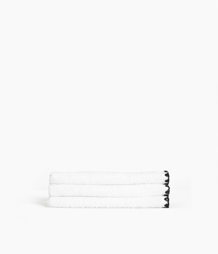 serviette invité 30*50 blanc