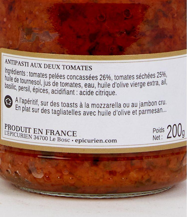 antipasti aux 2 tomates