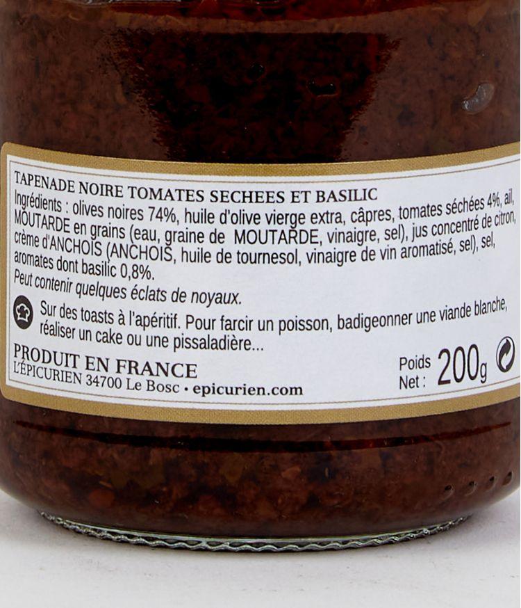 tapenade aux tomates sechees et basilic 200g