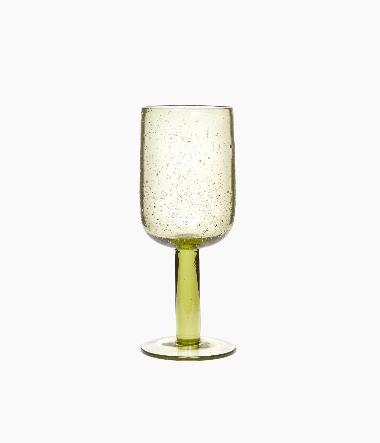 Verre à pied en verre Olive