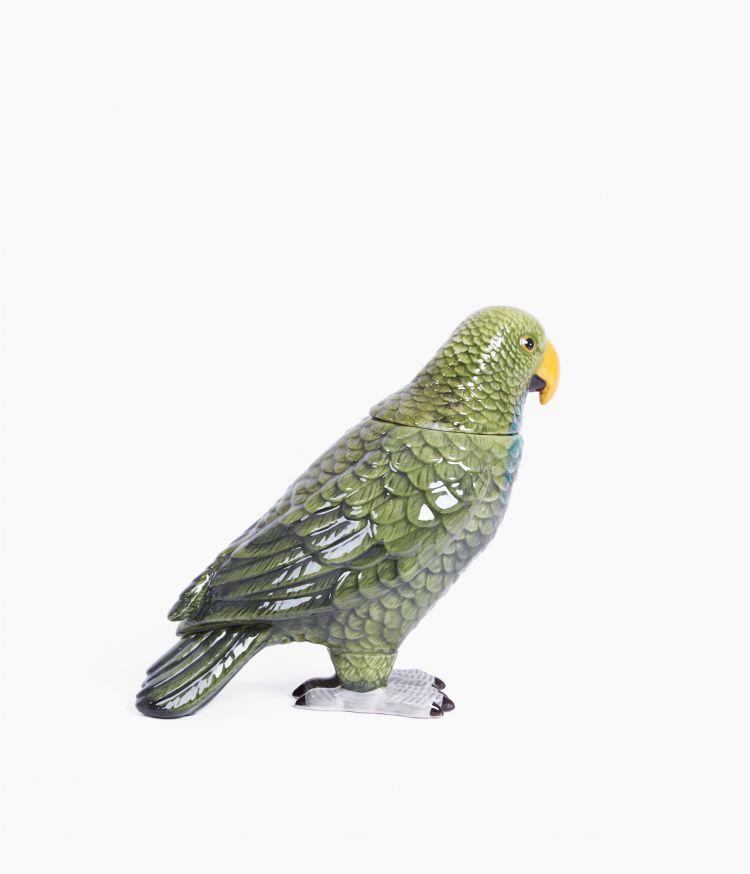 Boite perroquet en Céramique Verte