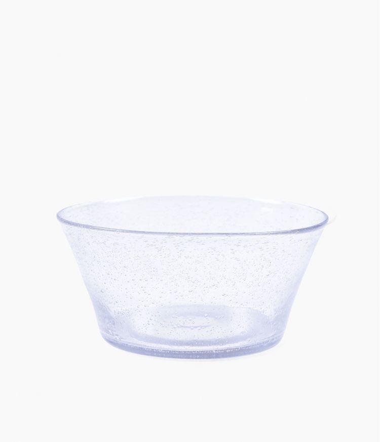 Saladier artisan bulle Transparent