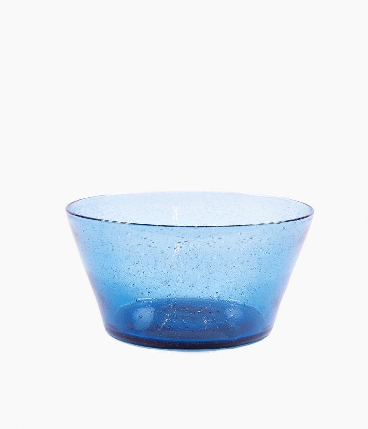Saladier artisan bulle Bleu