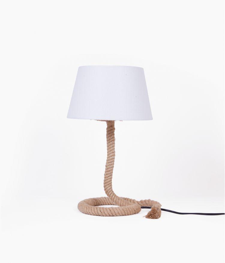 Lampe corde à poser Blanc