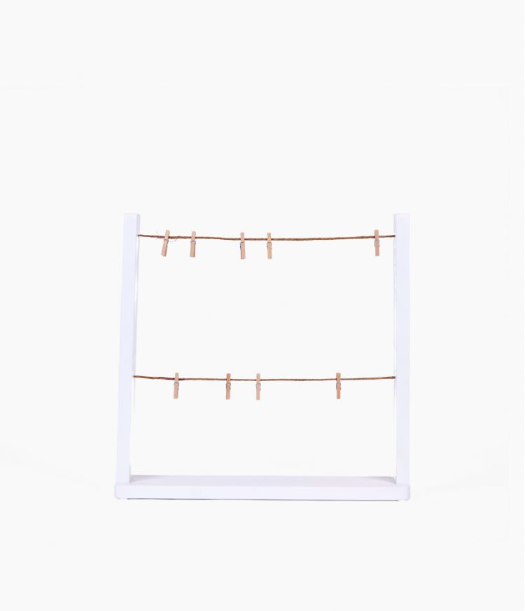 cadre 2 ficelles hangit blanc