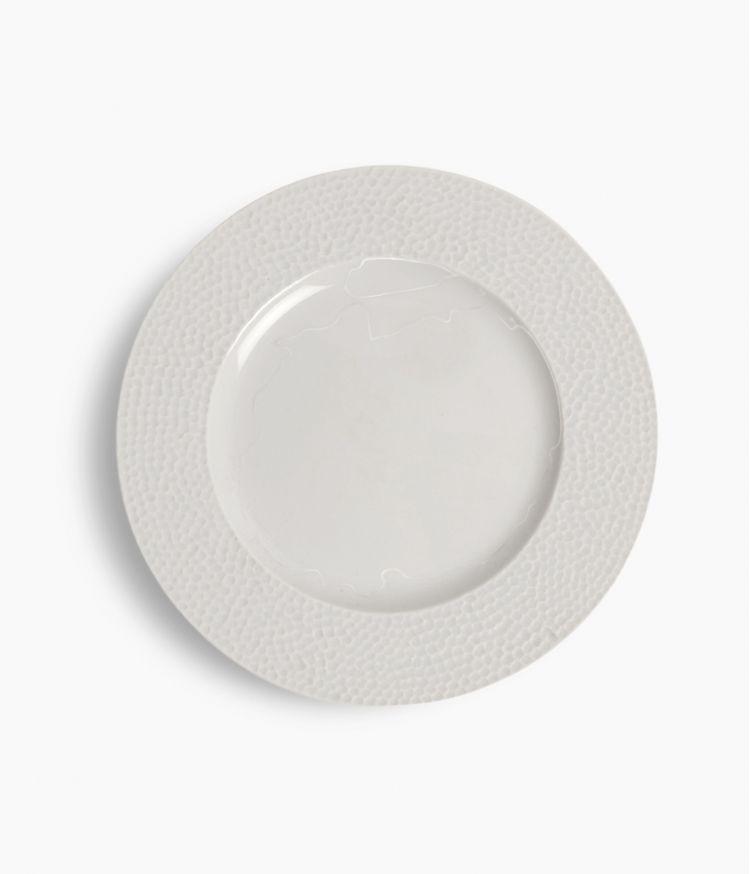 Assiette plate en Porcelaine blanche