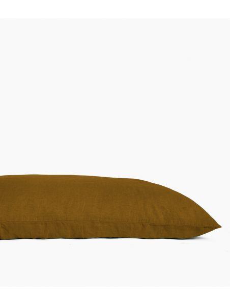 Taie de coussin 55 x 110 cm en Lin lavé - Bronze