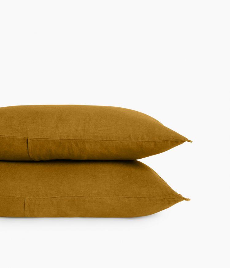 Housse de coussin 40 x 60 cm en Lin lavé - Bronze