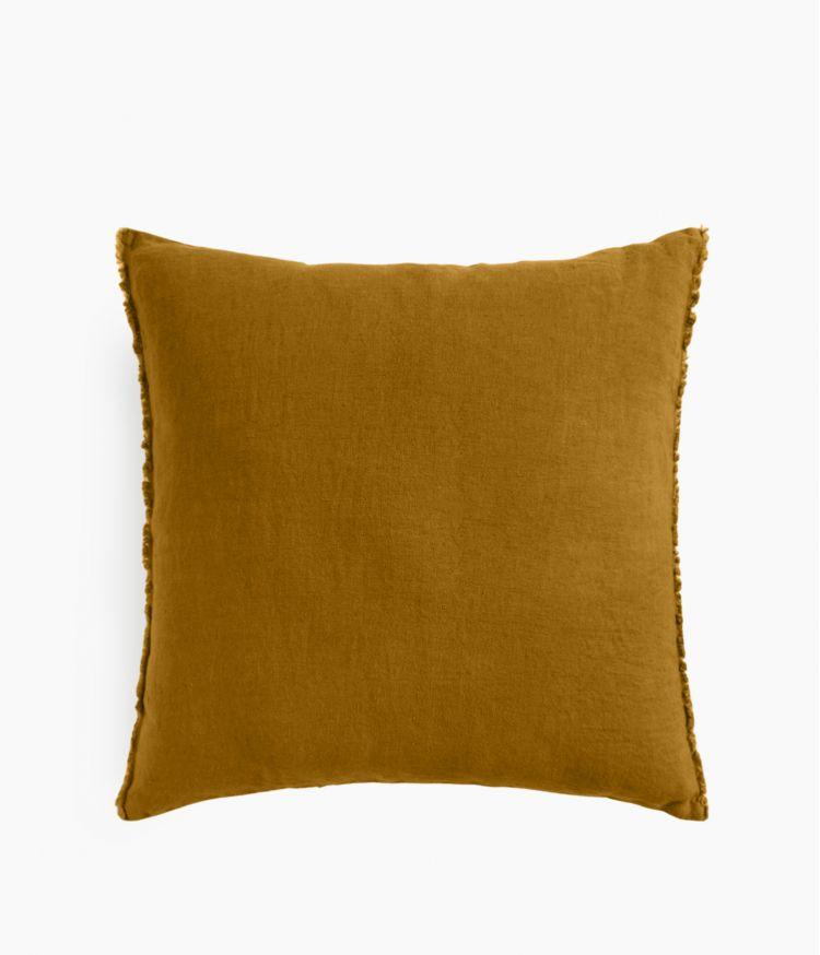 Housse de coussin 45 x 45 cm en Lin lavé - Bronze