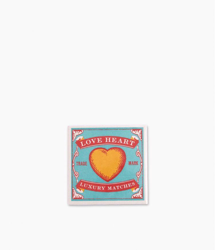 boîte d'allumettes love heart matches
