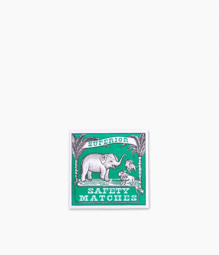 boîte d'allumettes elephant lion