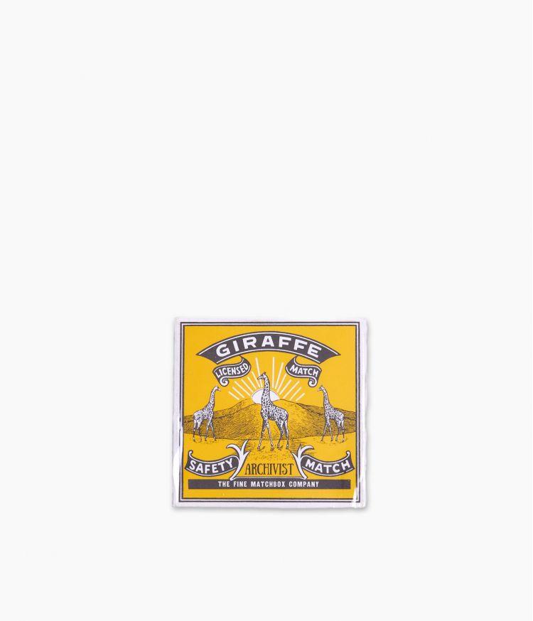 boîte d'allumettes giraffe