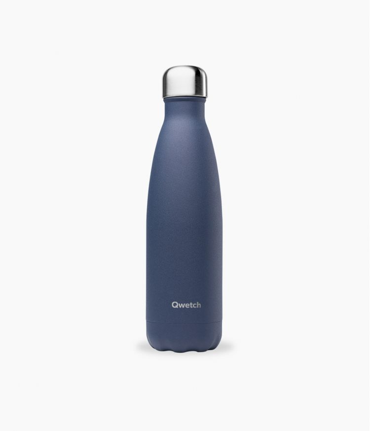 bouteille isotherme granite bleu nuit 500ml