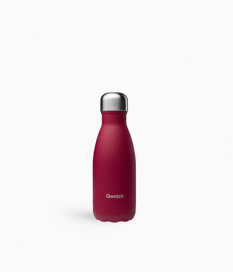 bouteille isotherme granite rouge 260ml