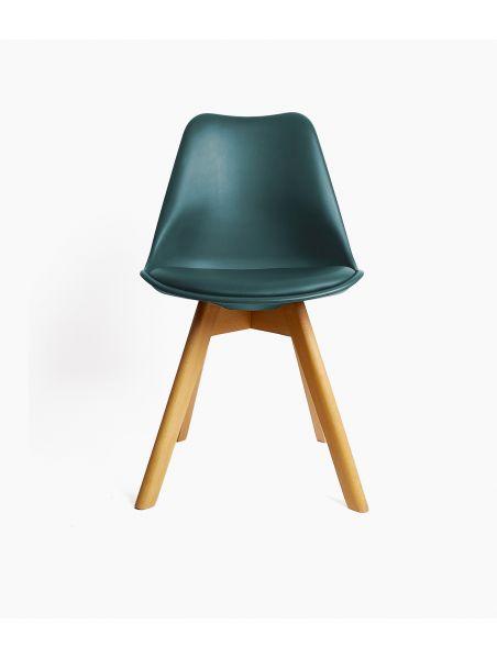 Chaise design scandinave - Bleu Saxo