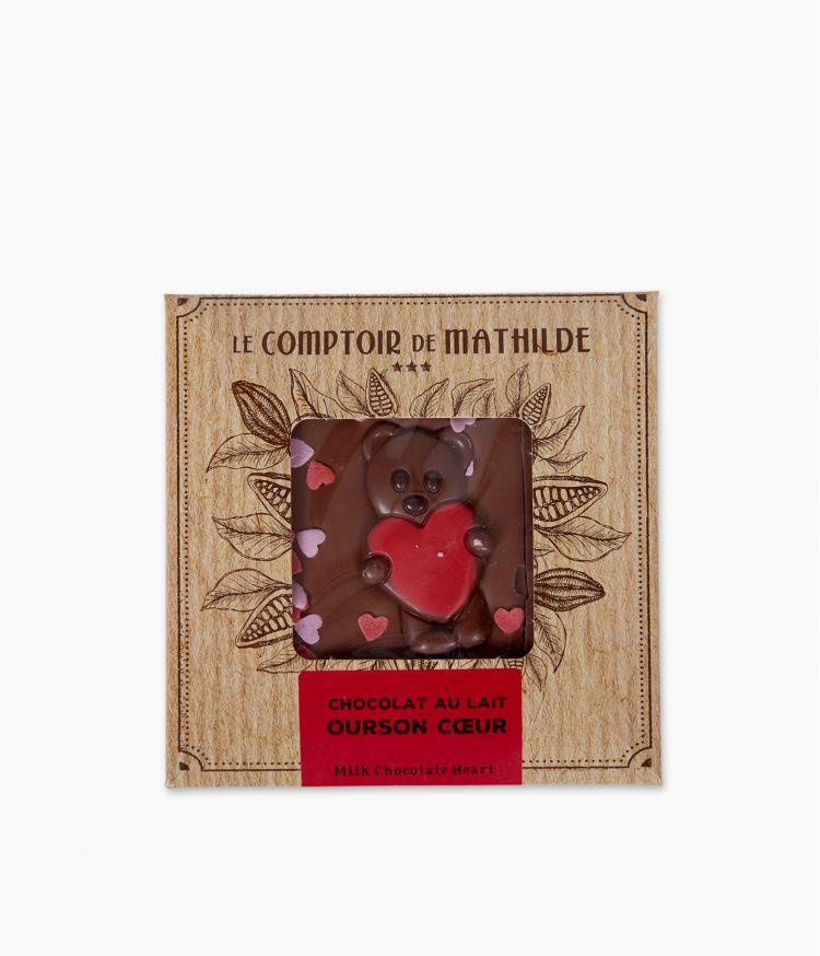 Chocolat au lait Ourson Coeur