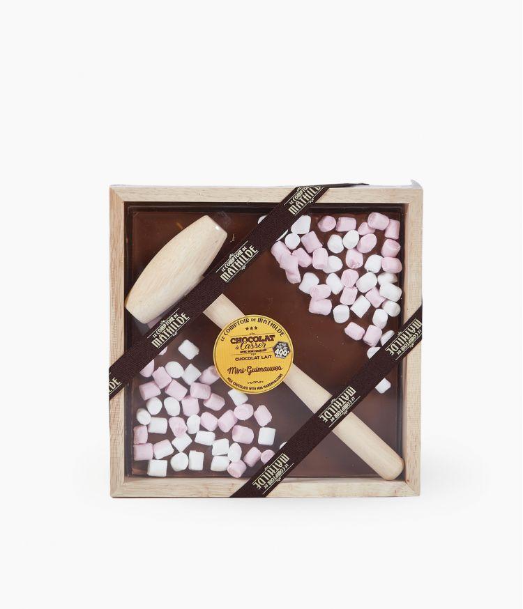 chocolat a casser lait mini guimauves 400g