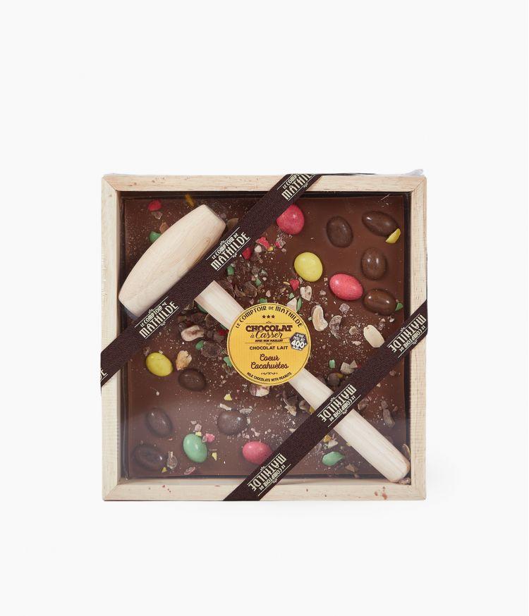 chocolat a casser coeur cacahuetes 400g