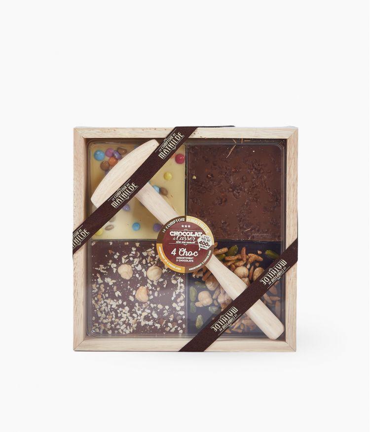 choc a casser 4en1 3 chocolats 400 g